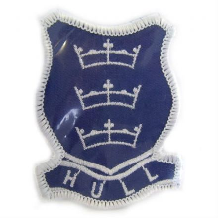 Hand Embroidered Hull Badge